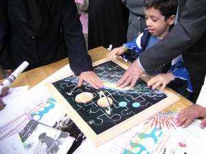 مسابقه پازل های نجوم مورد توجه کودکان قرار گرفت