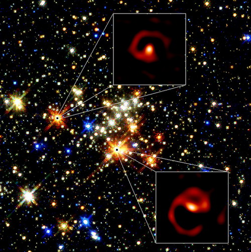 خوشه ستاره اي پنج گانه در قلب راه شيري